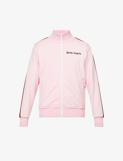 PALM ANGELS: College logo-print stretch-jersey track jacket
