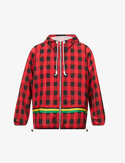 PALM ANGELS: Buffalo check relaxed-fit shell jacket