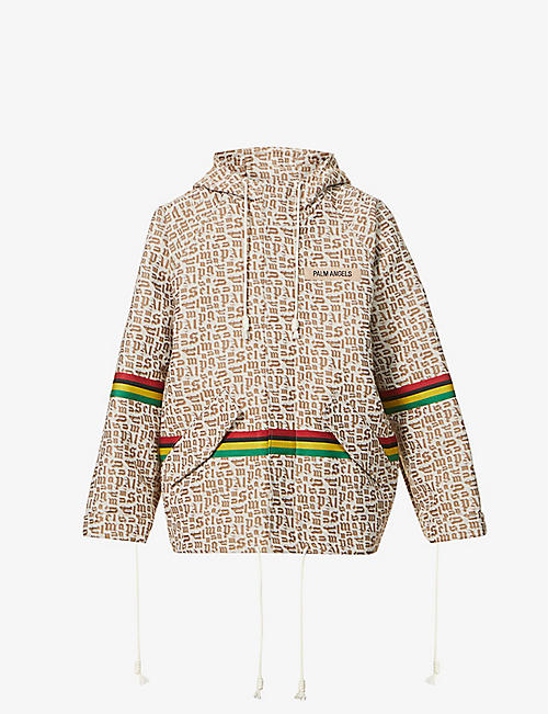 PALM ANGELS: Graphic-print cotton-blend parka jacket