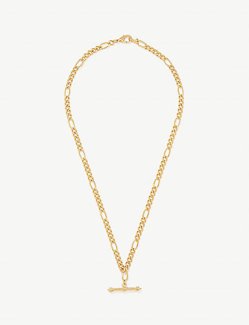 SUSAN CAPLAN: Pre-Loved 1990s 22ct gold-plated necklace