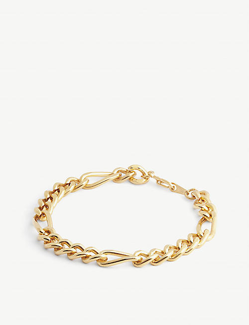 SUSAN CAPLAN: Pre-Loved 1990s 22ct gold-plated bracelet