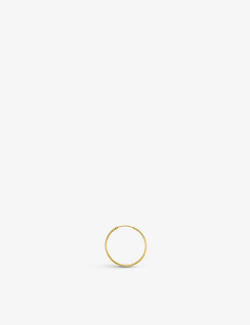 ANNA + NINA: Classic extra-large 14ct yellow-gold single hoop earring