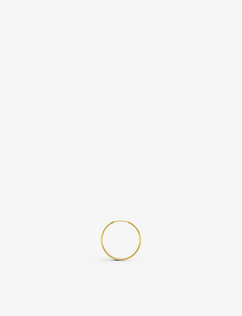 ANNA + NINA: Classic XXL 14ct yellow-gold single hoop earring