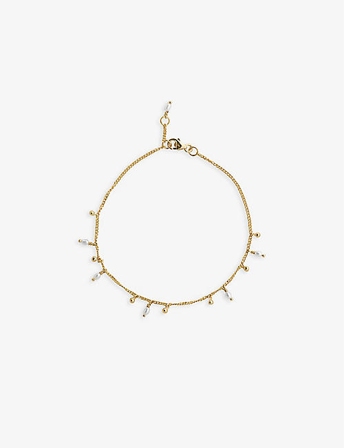 ANNA + NINA: Cosmic Dust 14ct yellow gold freshwater pearl bracelet