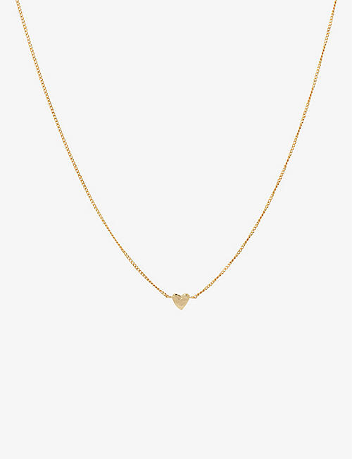 ANNA + NINA: Te Quiero 14ct yellow gold-plated sterling silver necklace