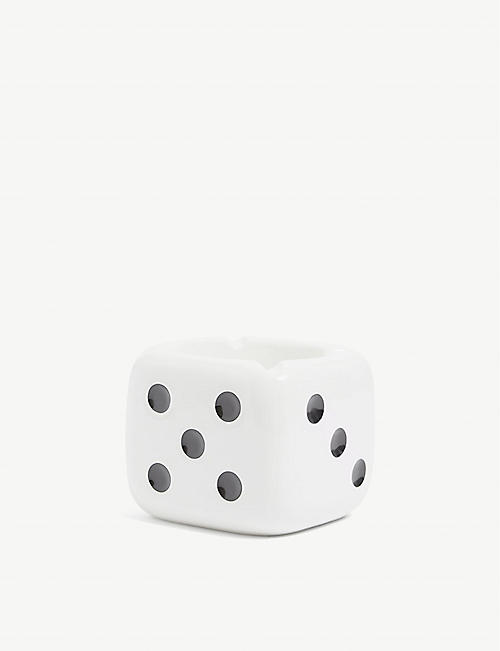 STUSSY: Dice glazed ceramic ashtray