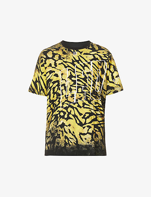GIVENCHY: Animal-print oversized cotton-jersey T-shirt