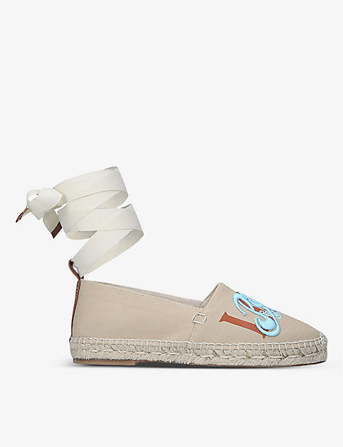 LOEWE: Loewe x Paula's embroidered canvas espadrilles