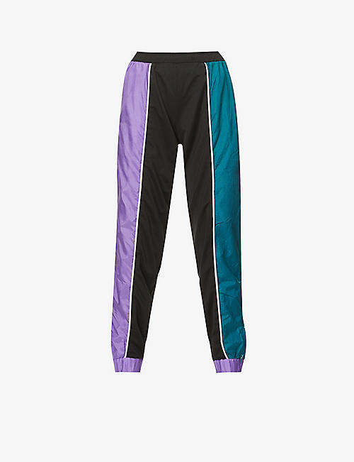 1/OFF: Upcycled hybrid shell and jersey jogging bottoms