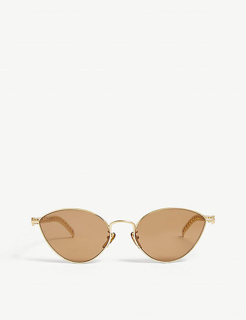 GUCCI: GG0977S metal cat-eye sunglasses