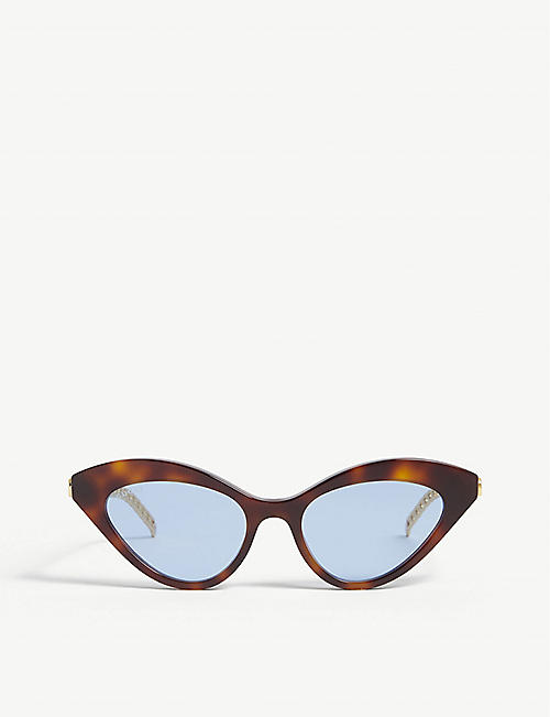 GUCCI: GG0978S metal and acetate cat-eye sunglasses