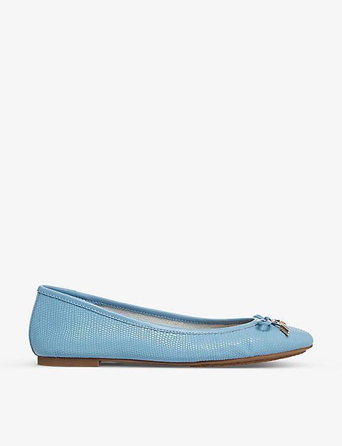 DUNE: Harpar 2 embossed ballet pumps
