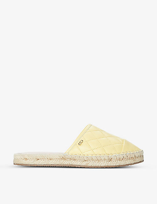 DUNE: Graceful quilted-leather espadrille mule