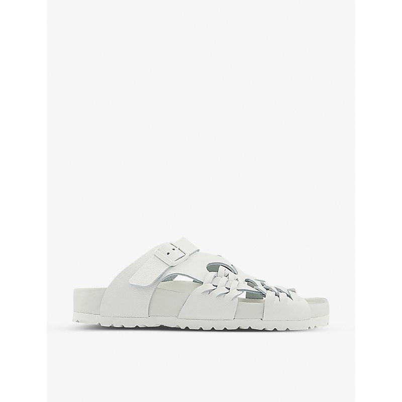Birkenstock X CSM TALLAHASSEE ARCHIVE RE-ISSUE STYLE GRAINED-LEATHER SANDALS