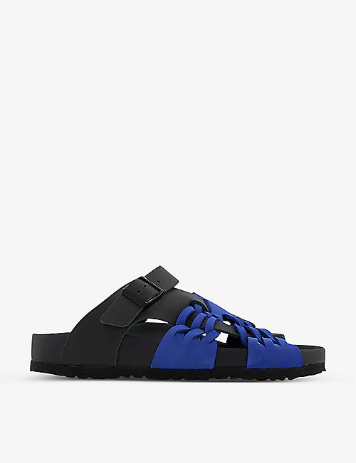 BIRKENSTOCK: Birkenstock x CSM Tallahassee Archive Re-Issue Style grained-leather sandals