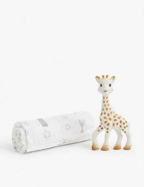 SOPHIE THE GIRAFFE: The Swaddle set pack of two
