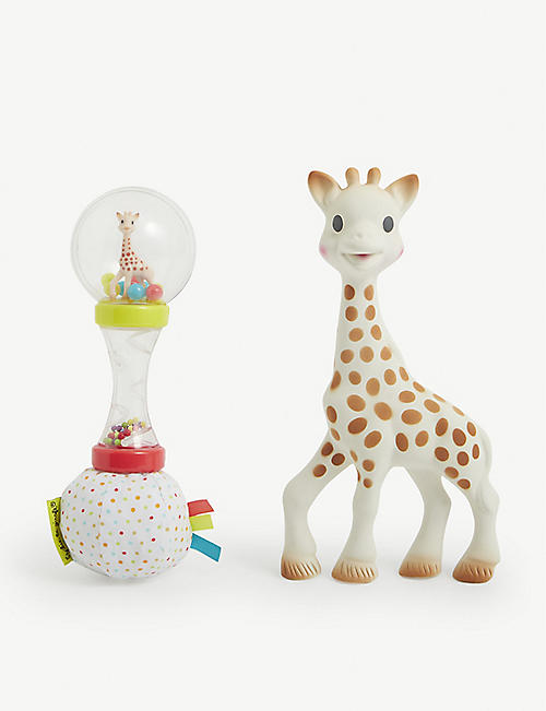 SOPHIE THE GIRAFFE: The Maracas teether and shaker toy set