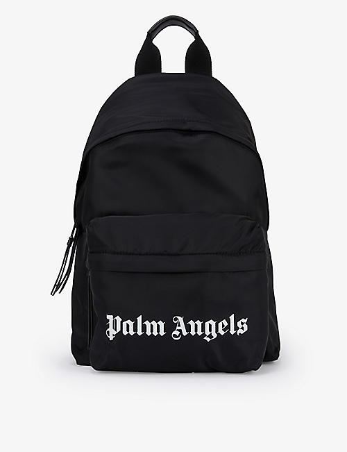 PALM ANGELS: Logo-print small woven backpack