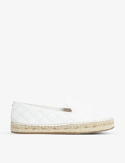 DUNE: Gently quilted leather espadrilles