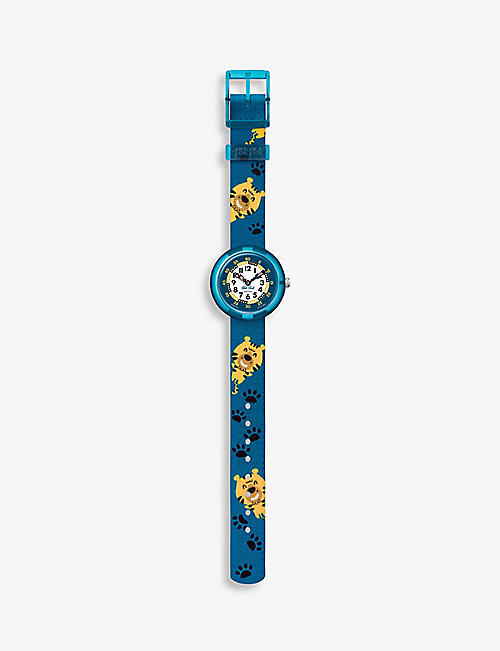 FLIK FLAK: FBNP175 Pawsome bio sourced-plastic and recycled-PET quartz watch