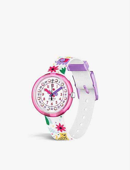 FLIK FLAK: FBNP081 bio sourced-plastic and recycled-PET quartz watch