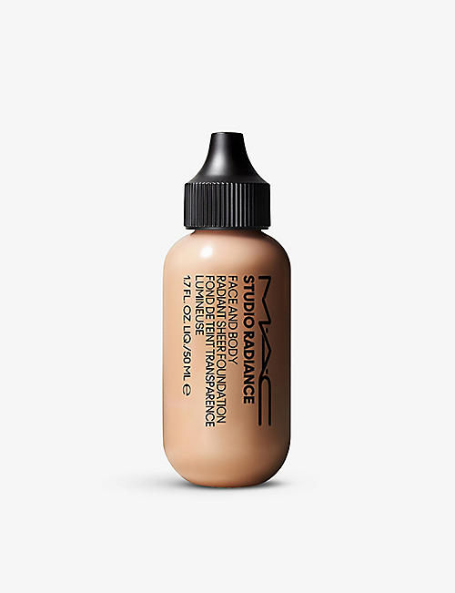 MAC: Studio Radiance Face and Body Radiant Sheer foundation 50ml