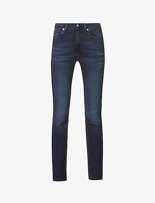 7 FOR ALL MANKIND: Roxanne Bair skinny mid-rise stretch-denim jeans
