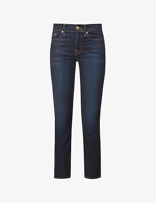 7 FOR ALL MANKIND: Roxanne B(air) skinny mid-rise jeans