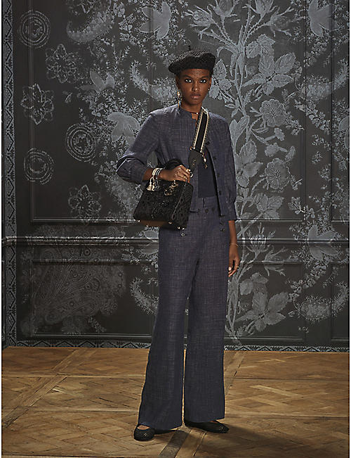 DIOR: High-waist loose-fit cotton-blend trousers