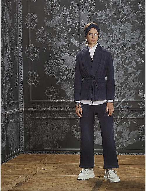 DIOR: Loose-fit high-waist wide denim trousers