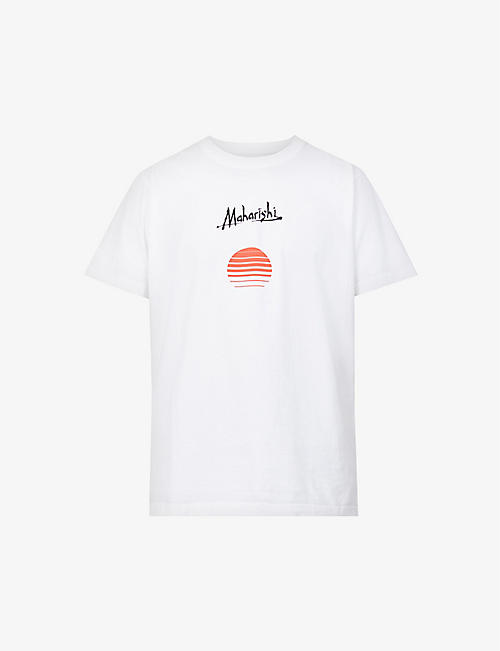 MAHARISHI: Sunset and logo-print organic-cotton T-shirt