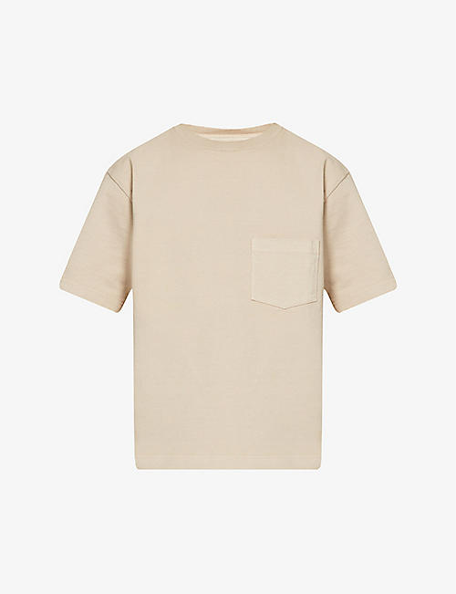 SNOW PEAK: Patch-pocket crewneck cotton-jersey T-shirt