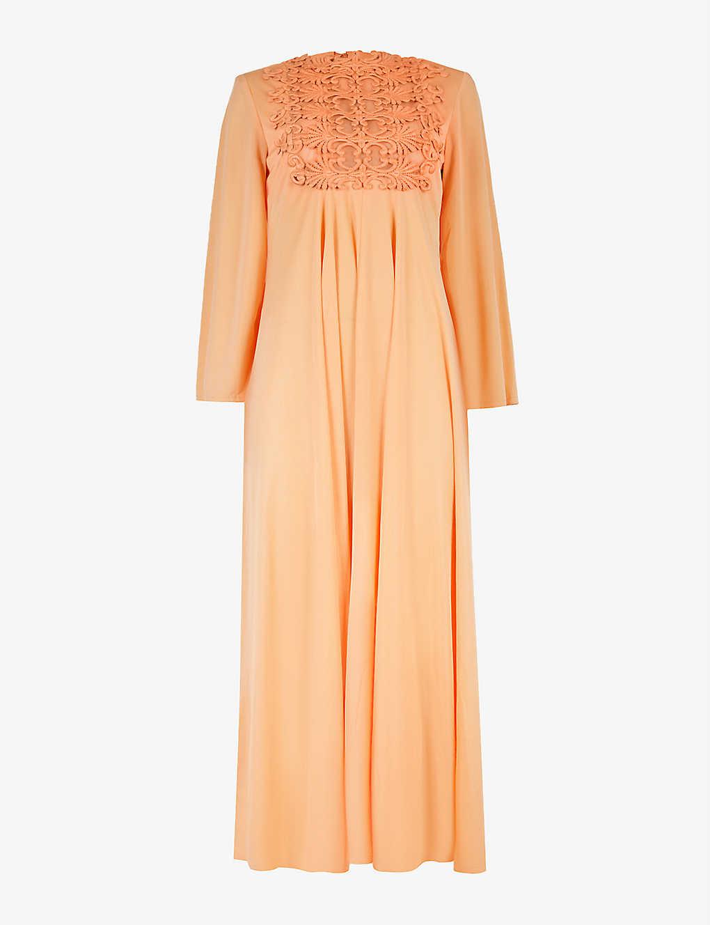 Pre-loved 1970s brocade woven midi dress