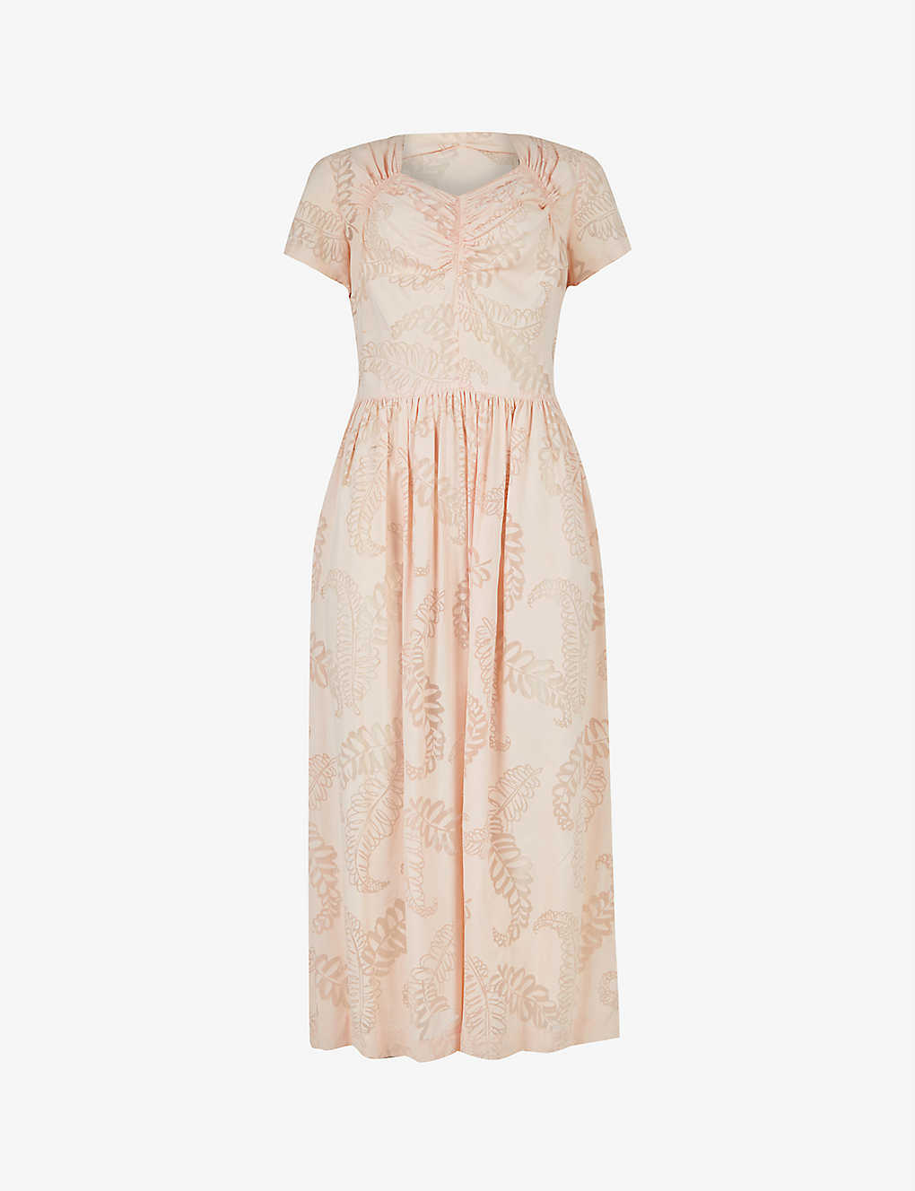 Pre-loved 1940s floral woven midi dress