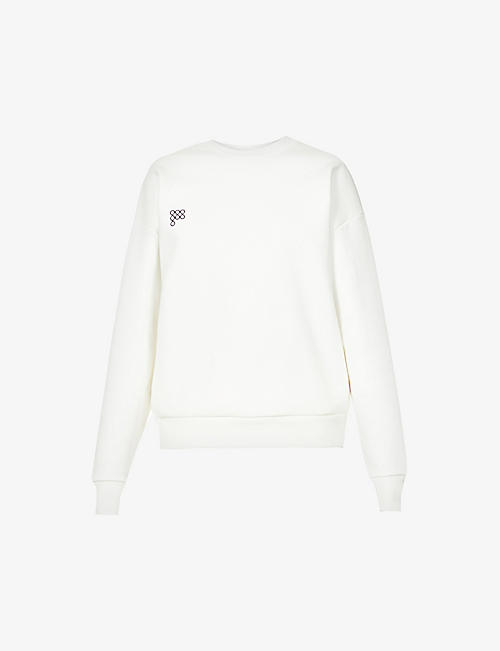 PANGAIA: Text-print recycled cotton and organic cotton-blend sweatshirt