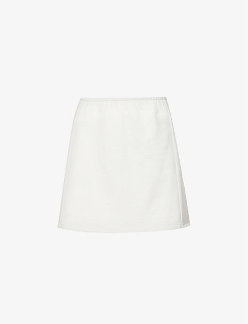 PANGAIA: High-waisted organic-cotton mini skirt