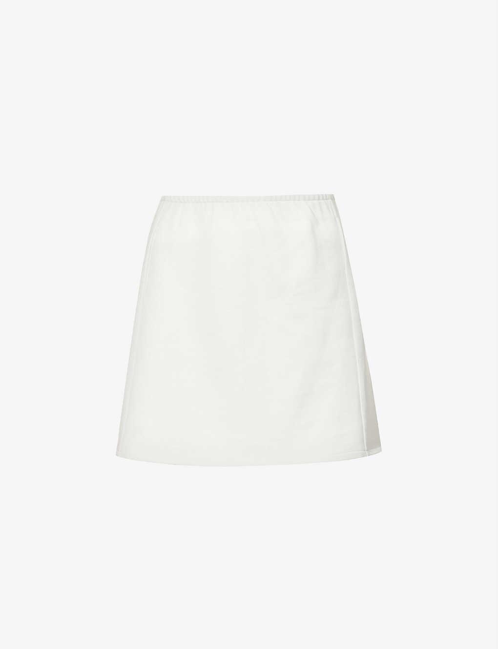 High-waisted organic-cotton mini skirt