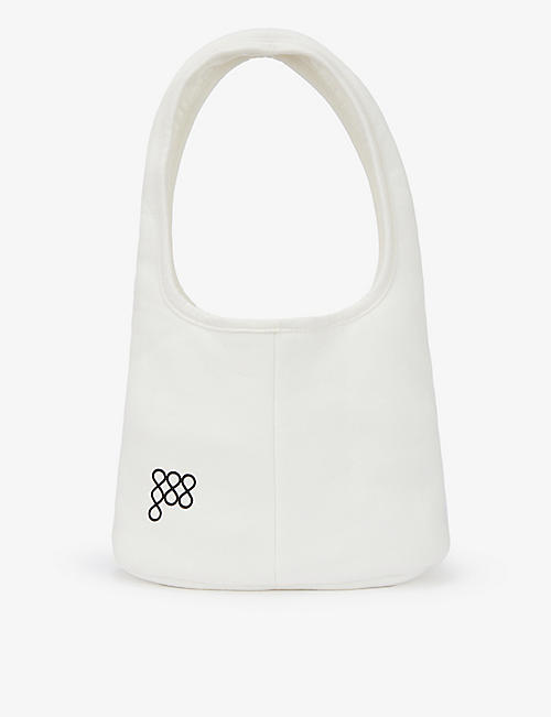 PANGAIA: Brand-embossed recycled and organic cotton-blend shoulder bag