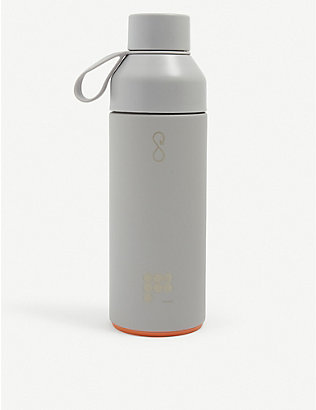 PANGAIA: Text-print recycled plastic water bottle 500ml