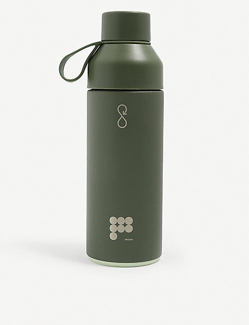 PANGAIA: Ocean Bottle x Pangaia text-print recycled stainless-steel and recycled ocean-bound plastic bottle 500ml