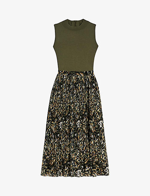 TED BAKER: Lemmie graphic-print woven midi dress