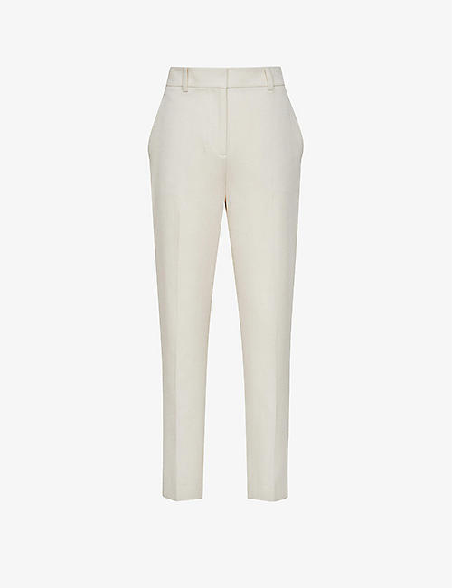 REISS: Ember high-rise slim-fit tailored woven trousers