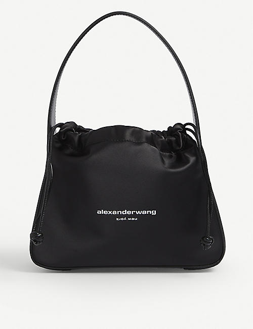 ALEXANDER WANG: Ryan branded small satin bag