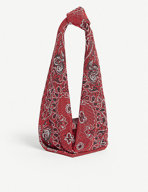 ALEXANDER WANG: Scarf printed copper mesh bag