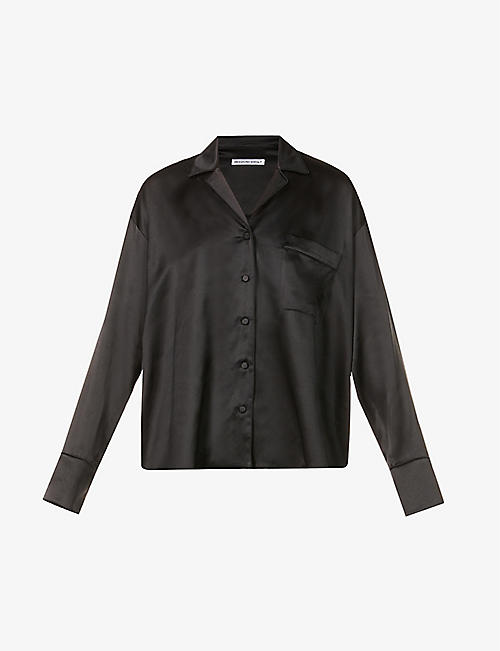 ALEXANDER WANG: Oversized silk-satin shirt