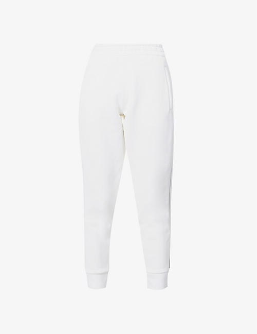 ALEXANDER WANG: Logo-tape cotton-blend jersey jogging bottoms