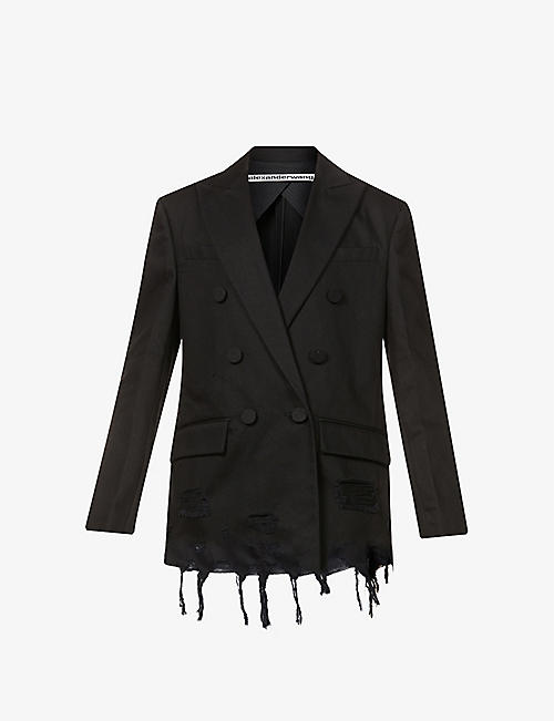 ALEXANDER WANG: Double-breasted denim blazer