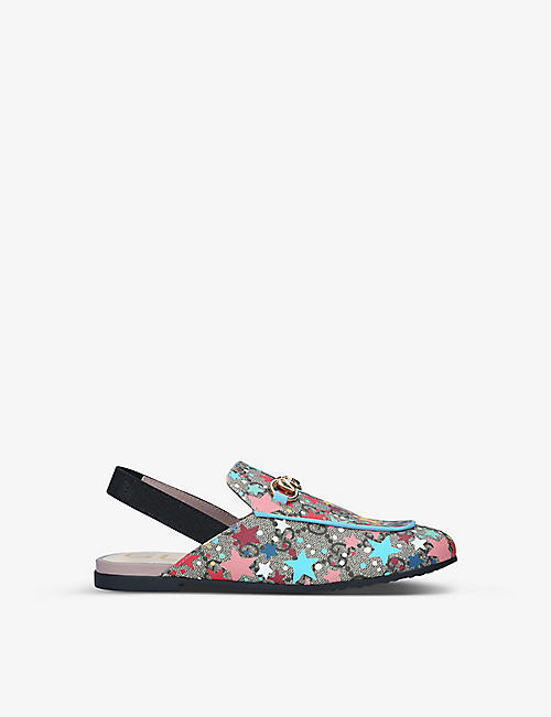 GUCCI: Princetown GG Star loafers 7-8 years