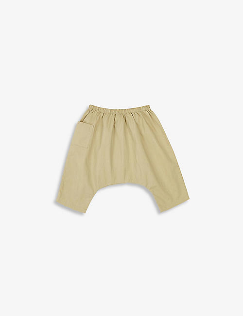 CARAMEL: Fluke stretch-cotton trousers 3-24 months