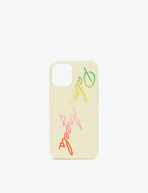 PALM ANGELS: Rainbow logo-print iPhone 12 phone case